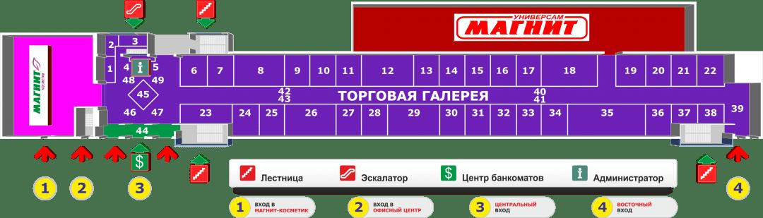 Схема торгового центра