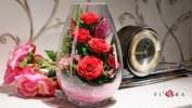 Неувядающие цветы в стекле