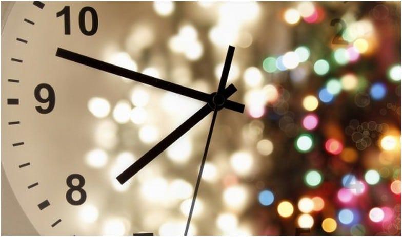 новый год время