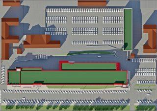 Самая большая парковка в историческом центре Кирова уже осенью.